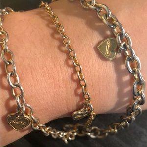 Coach Jewelry - COACH Triple strand heart bracelet
